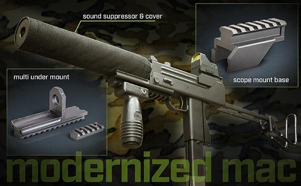 KSC ガスガン サブマシンガン M11A1 スコープマウントベース マルチアンダーマウント
